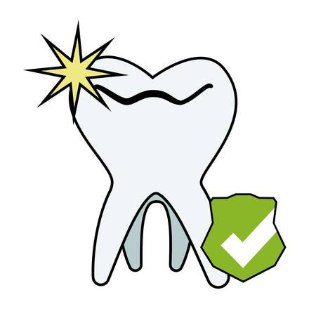 tooth human whitening icon vector illustration design