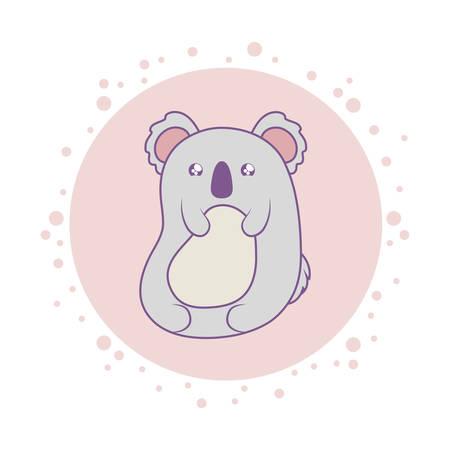 cute koala baby animal style vector illustration design