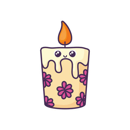 cartoon of candles on a white background vector illustration design Çizim