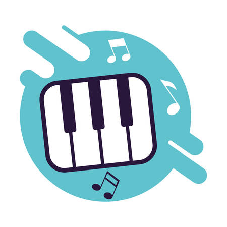 banner with piano keys instrumental music vector illustration design