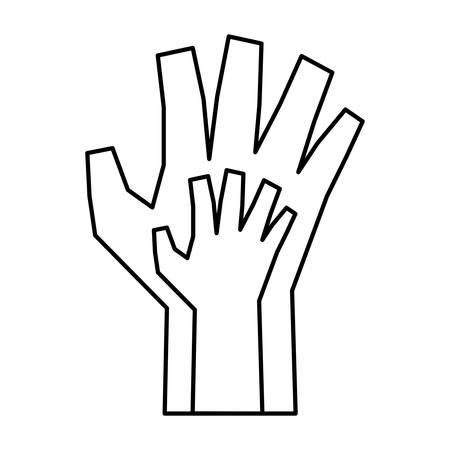 hands protection isolated icon vector illustration design