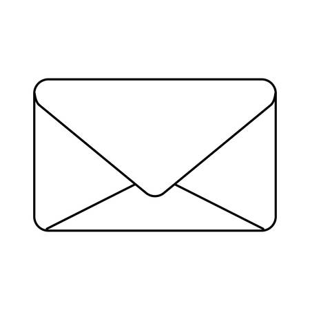 envelope mail communication closed isolated icon vector illustration design