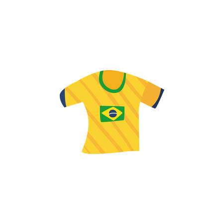 brazil national soccer team shirt on white background vector illustration design