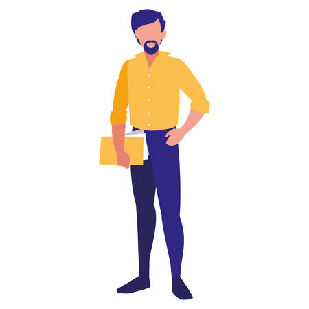 Avatar man with casual clothes over white background, vector illustration Archivio Fotografico - 133767259
