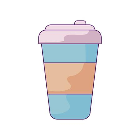 container beverage coffee isolated icon vector illustration design
