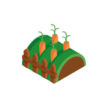 meadow with harvest of vegetables vector illustration design