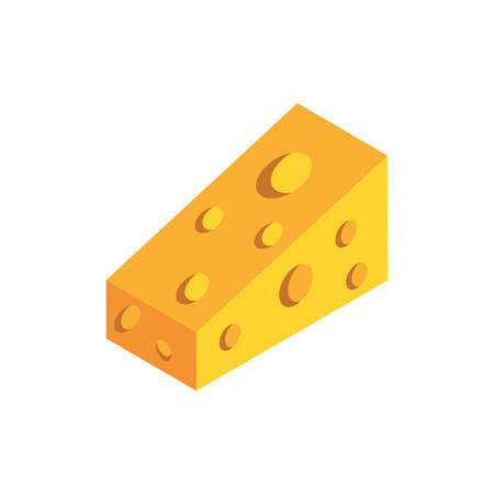 delicious cheese portion on white background vector illustration design 矢量图像