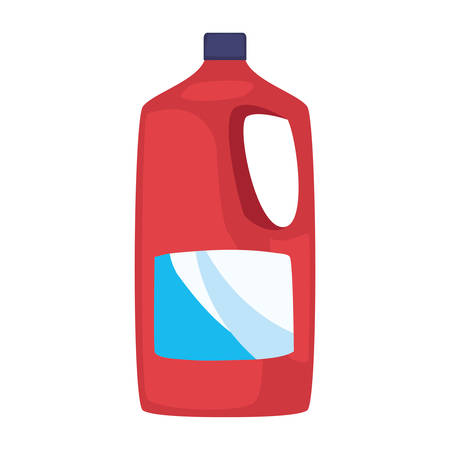 detergent bottle cleaning supply on white background vector illustration