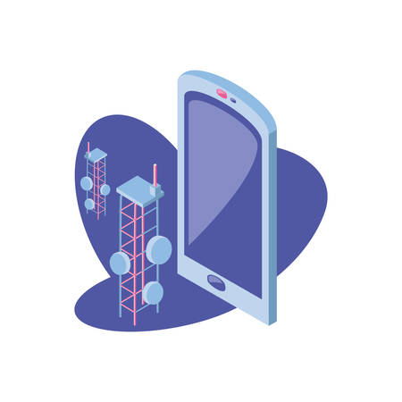 smartphone screen on white background vector illustration design