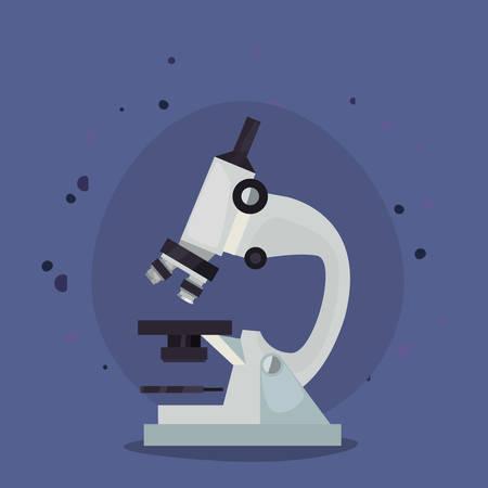 back to school supplies laboratory microscope vector illustration