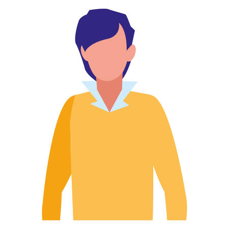 Avatar man with casual clothes over white background, vector illustration Archivio Fotografico - 133769116