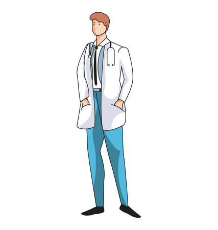 medical doctor worker avatar character vector illustration design
