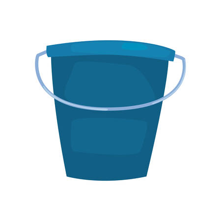 bucket cleaning supply on white background vector illustration  イラスト・ベクター素材