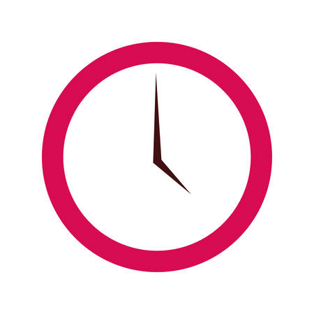 round clock on white background vector illustration  イラスト・ベクター素材