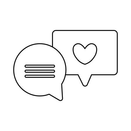 set of speech bubbles message isolated icon vector illustration design