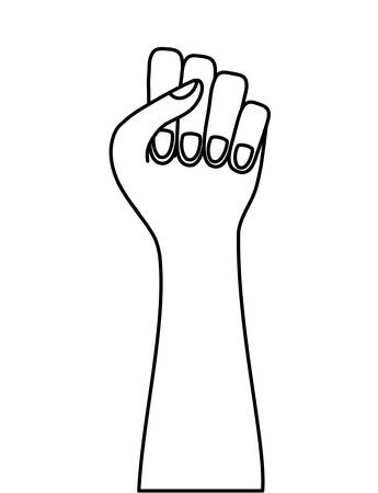 hand human fist isolated icon vector illustration design