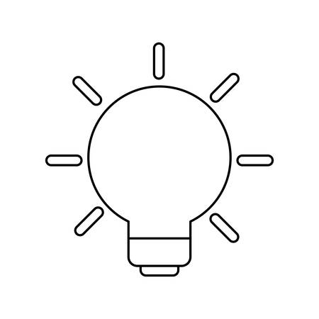 light bulb invention isolated icon vector illustration design