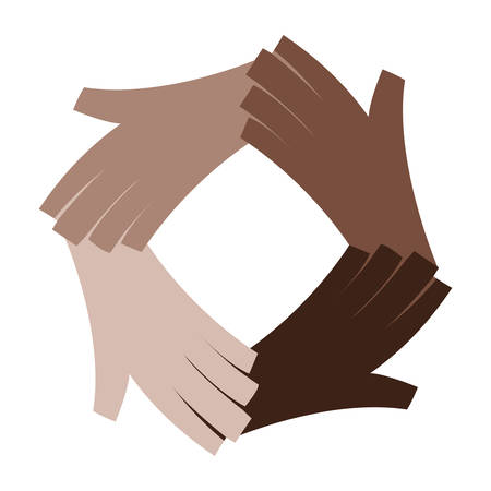 diversity hands human icon vector illustration design