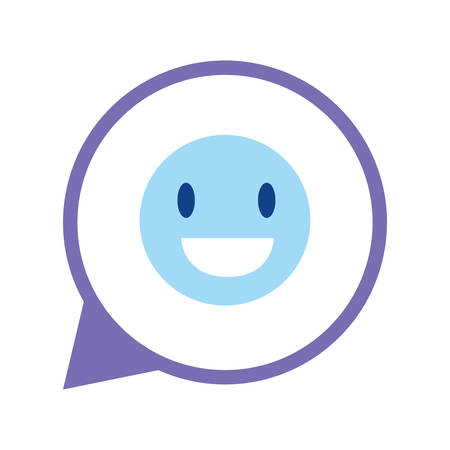 social media talk bubble emoticon vector illustration