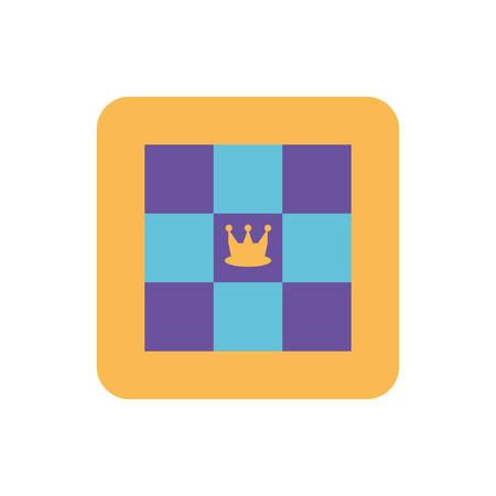 chess game on white background vector illustration design Çizim