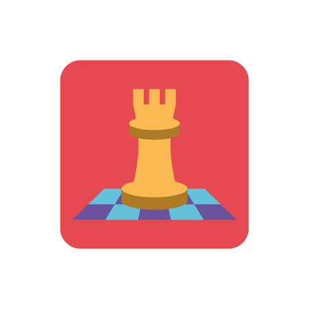chess game on white background vector illustration design Vettoriali