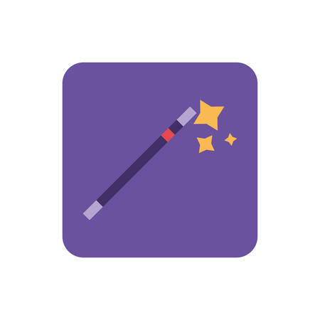 magic wand on white background vector illustration design Vector Illustration