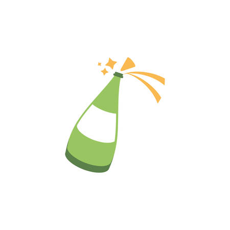 sparkling champagne bottle on white background vector illustration design