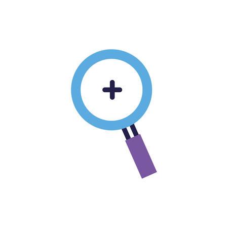 magnifying glass on white background vector illustration design