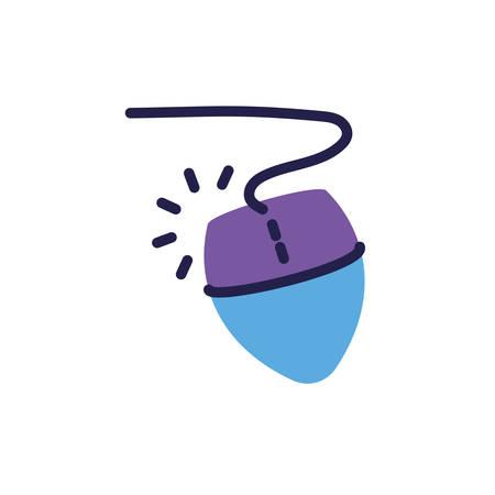 computer mouse on white background vector illustration design Illustration