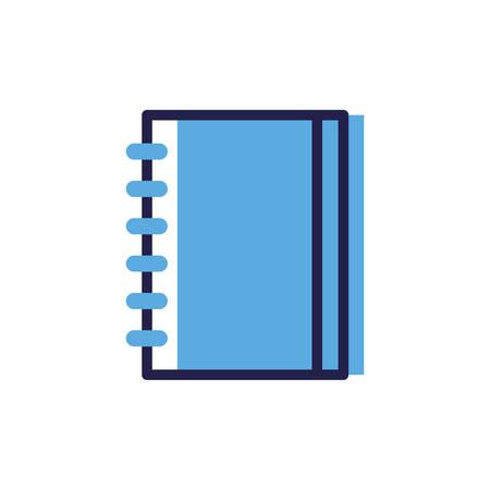 closed book on white background vector illustration design Çizim