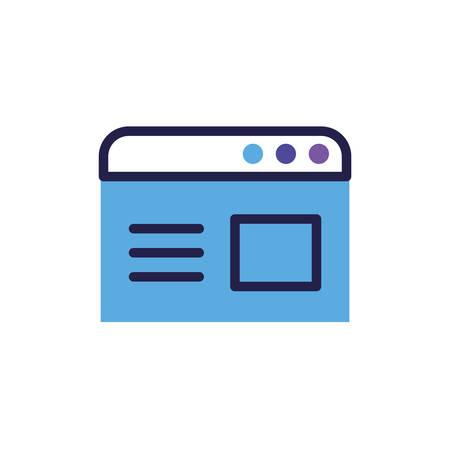 social network profile on white background vector illustration design vector illustration design Ilustrace