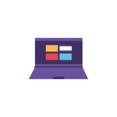 open laptop on white background vector illustration design Illustration