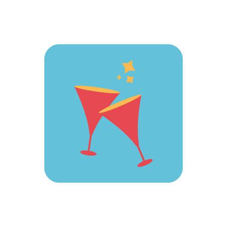 wine glasses on white background vector illustration design Ilustração