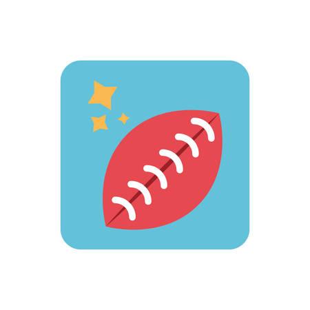 american football balloon on white background vector illustration design