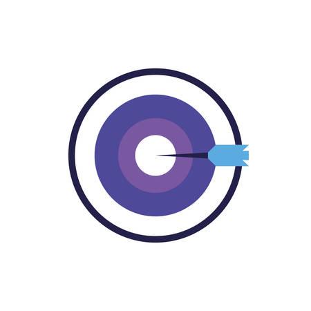 target shooting in white background vector illustration design