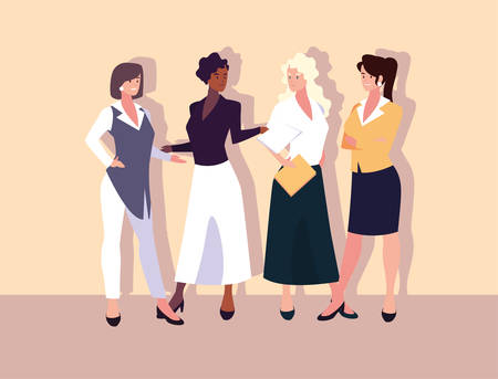 set of businesswomen with various views, poses and gestures vector illustration design Archivio Fotografico - 133769905