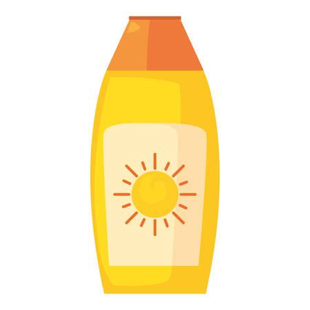 sunblock bottle on white background vector illustration
