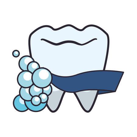 tooth human with foam vector illustration design Illusztráció