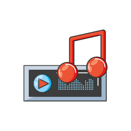 audio player display with sound graohic vector illustration design Stock Illustratie