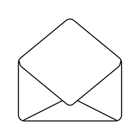 envelope mail communication open isolated icon vector illustration design