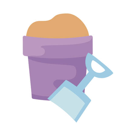bucket and shovel toy isolated icon vector illustration design Illustration