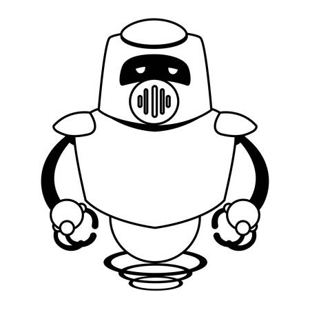 Robot design, Robotic tecnology futuristic toy machine cyborg science and android theme Vector illustration 向量圖像
