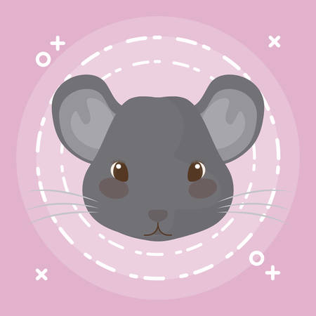 head of cute hamster animal baby vector illustration design