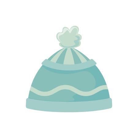 cute winter hat on white background vector illustration design
