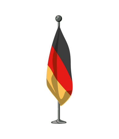 germany country flag in pole icon vector illustration design