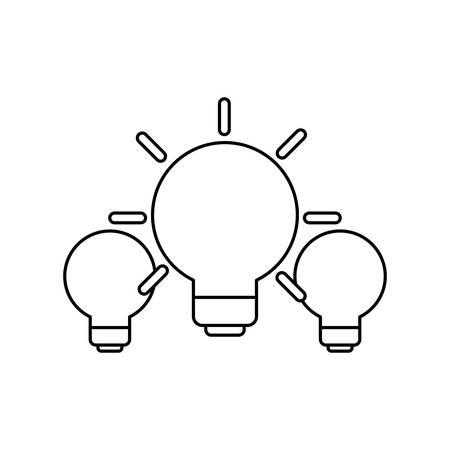 set of light bulbs isolated icon vector illustration design