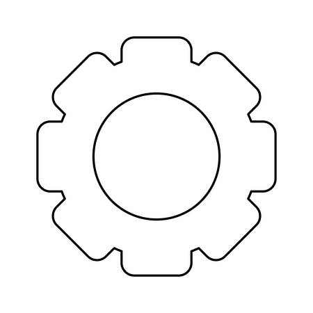 gear pinion machine isolated icon vector illustration design