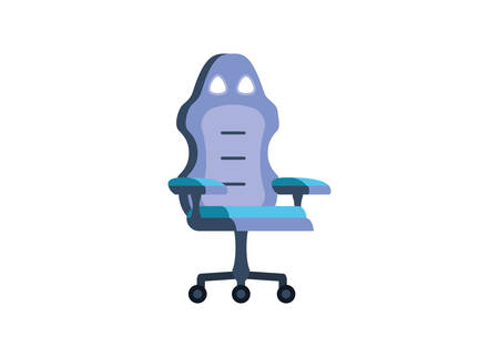 gamer special chair entertainment icon vector illustration design