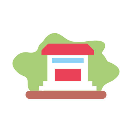 house facade building isolated icon vector illustration design 일러스트