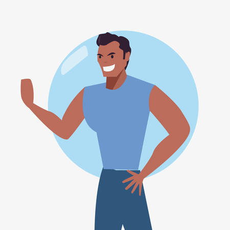 man character male casual clothes vector illustration
